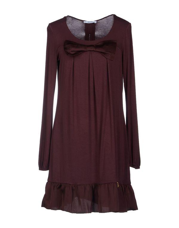 深紫 LIU •JO JEANS 短款连衣裙