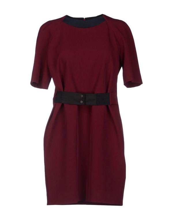 深紫 VICTORIA BECKHAM 短款连衣裙