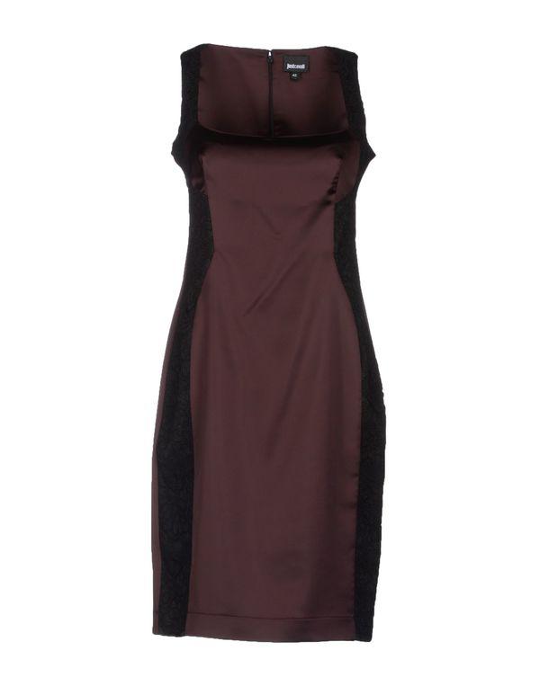 深紫 JUST CAVALLI 及膝连衣裙