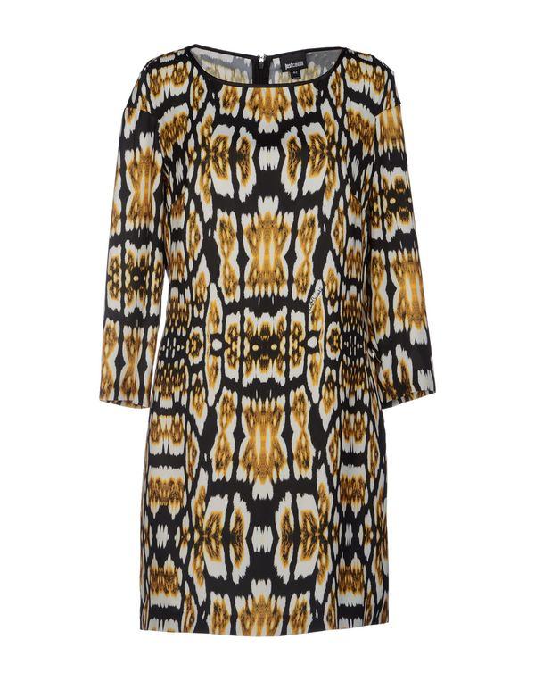 赭石色 JUST CAVALLI 及膝连衣裙
