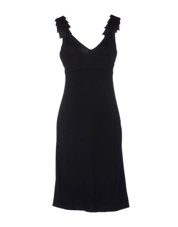 黑色 VERSACE 及膝连衣裙