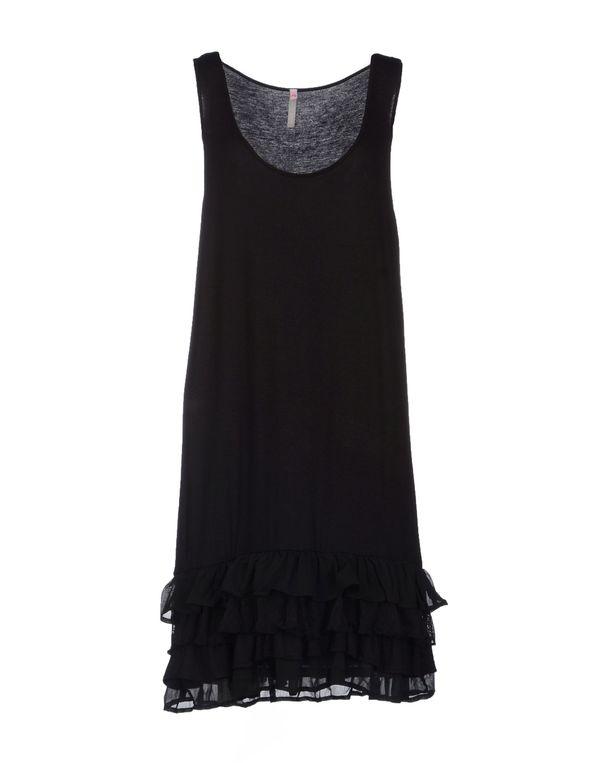 黑色 SCEE BY TWIN-SET 及膝连衣裙