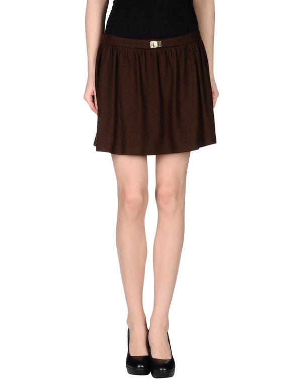 巧克力色 PINKO BLACK 超短裙