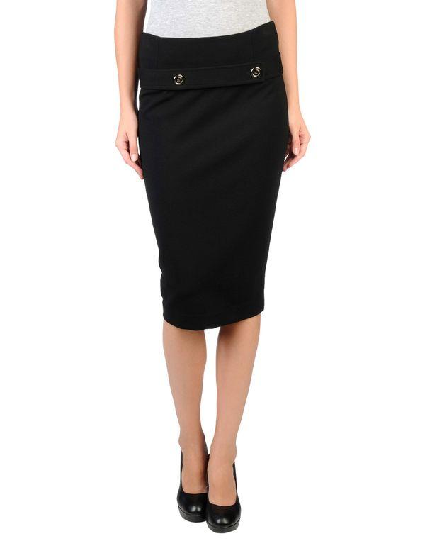 黑色 PINKO BLACK 及膝半裙