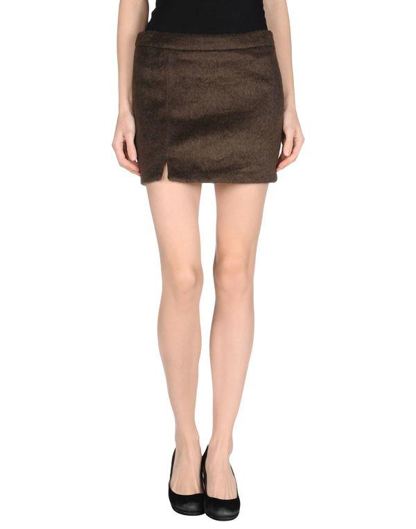 深棕色 M.GRIFONI DENIM 超短裙