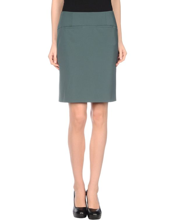深绿色 EMPORIO ARMANI 及膝半裙