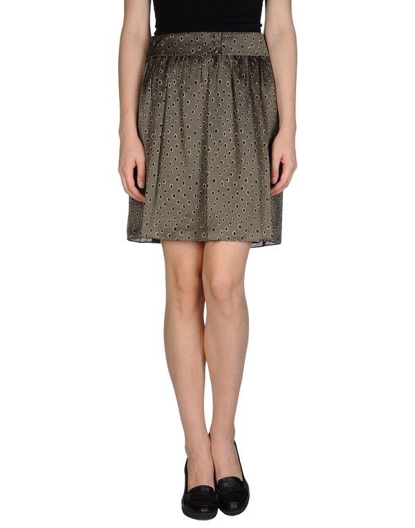 铅灰色 HOSS INTROPIA 及膝半裙