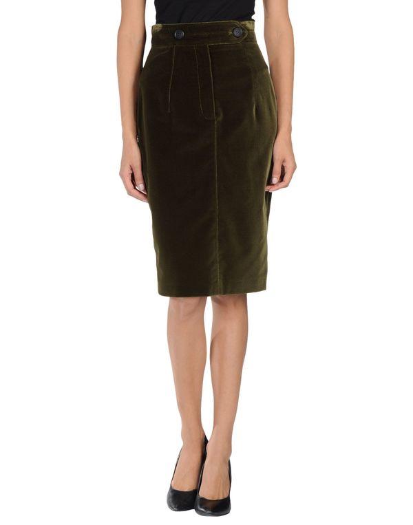 军绿色 BURBERRY PRORSUM 及膝半裙