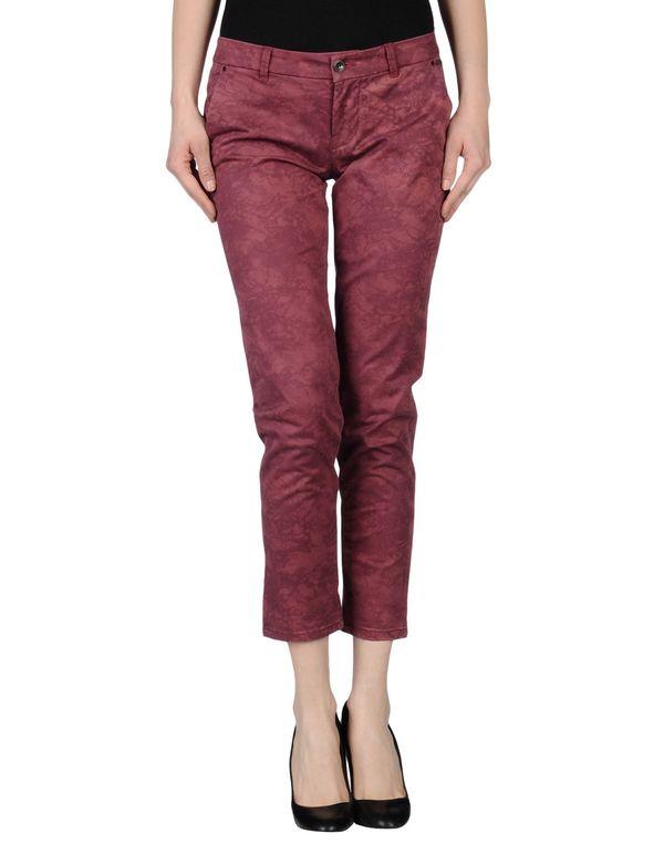 石榴红 GUESS 七分裤