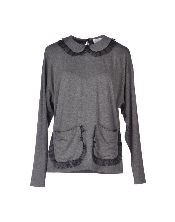 铅灰色 PINK BOW T-shirt