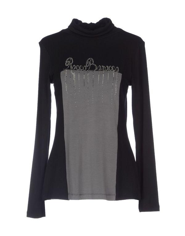 黑色 ROCCOBAROCCO T-shirt