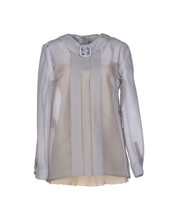 灰色 PRADA 女士衬衫