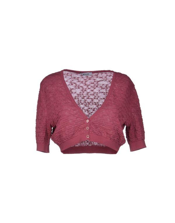 石榴红 MOSCHINO 短套衫