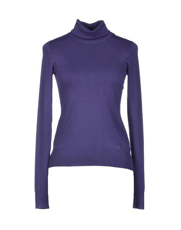 深紫色 LIU •JO 圆领针织衫