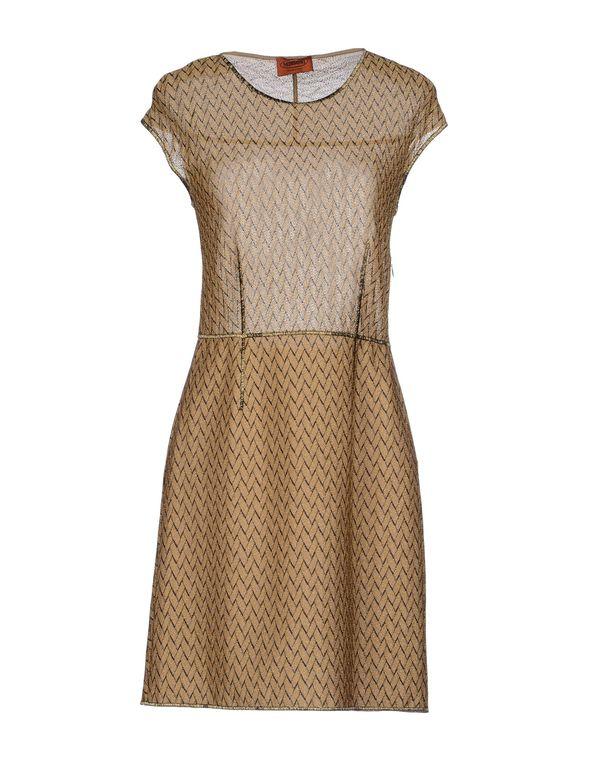 金色 MISSONI 短款连衣裙
