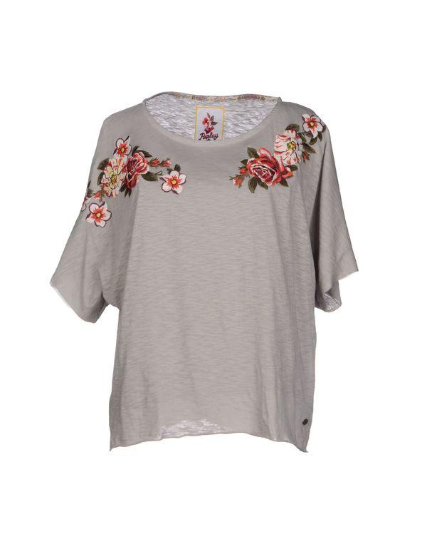 淡灰色 REPLAY T-shirt