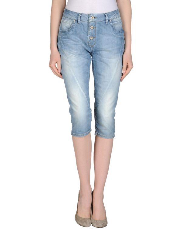 蓝色 ONLY 牛仔七分裤