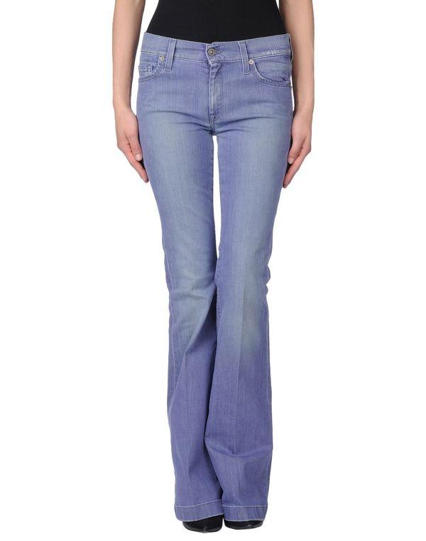 粉蓝色 7 FOR ALL MANKIND 牛仔裤