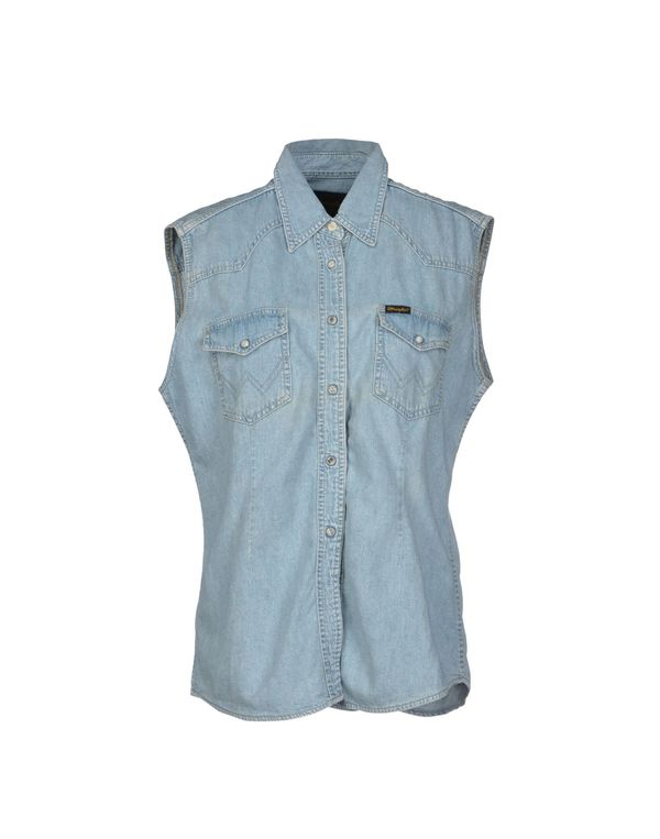 蓝色 WRANGLER 牛仔衬衫