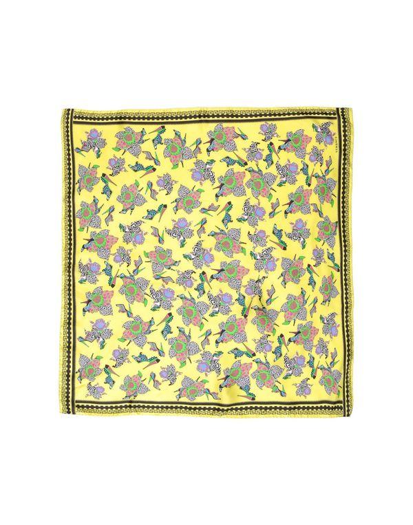 黄色 VERSACE 方巾