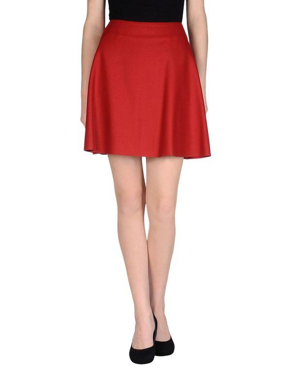红色 MSGM 及膝半裙