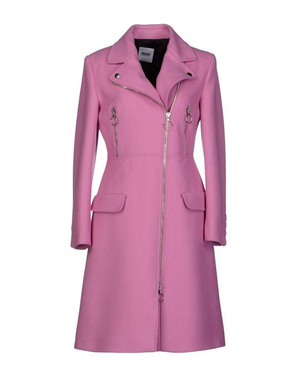浅紫色 MOSCHINO CHEAPANDCHIC 大衣