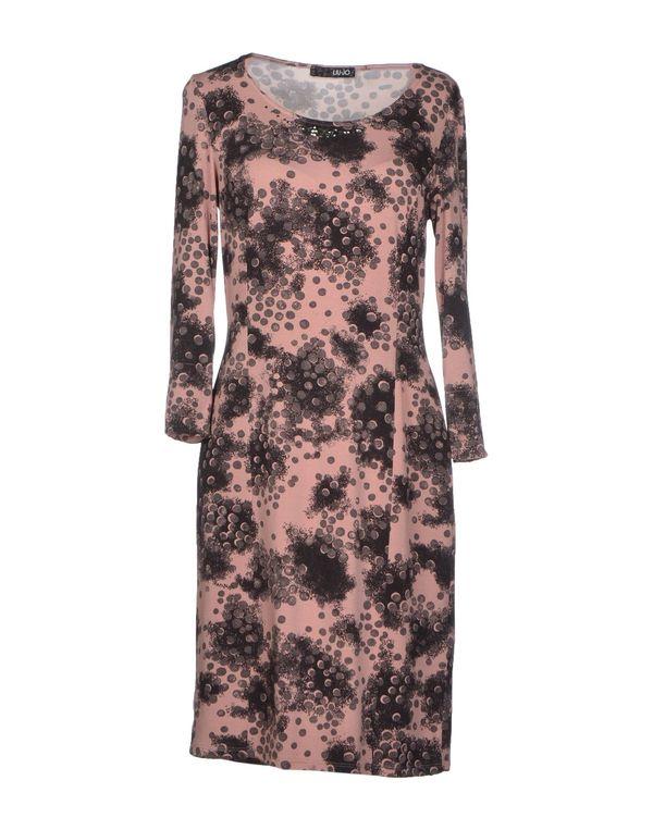 水粉红 LIU •JO 短款连衣裙