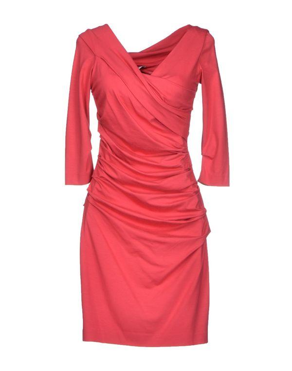 玫红色 DIANE VON FURSTENBERG 短款连衣裙
