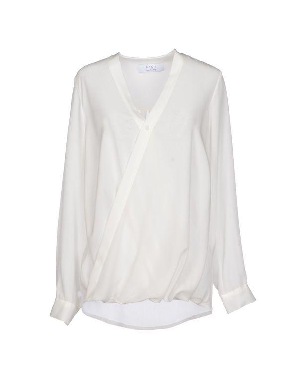 白色 KAOS 女士衬衫
