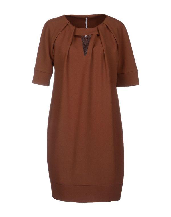 棕色 LAVINIATURRA 短款连衣裙