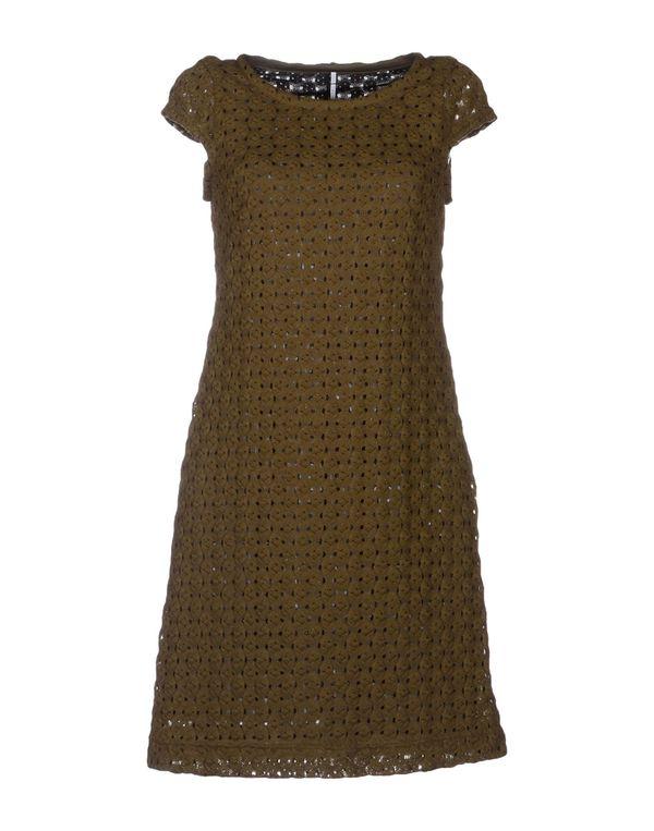 军绿色 LAVINIATURRA 短款连衣裙
