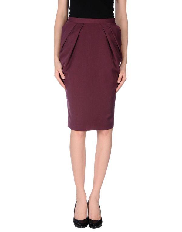 深紫 LAVINIATURRA 及膝半裙
