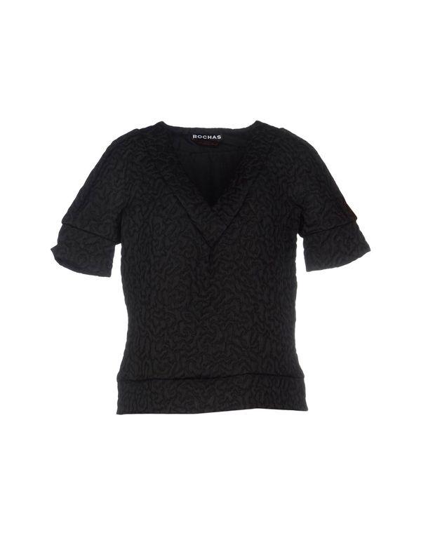 黑色 ROCHAS 女士衬衫