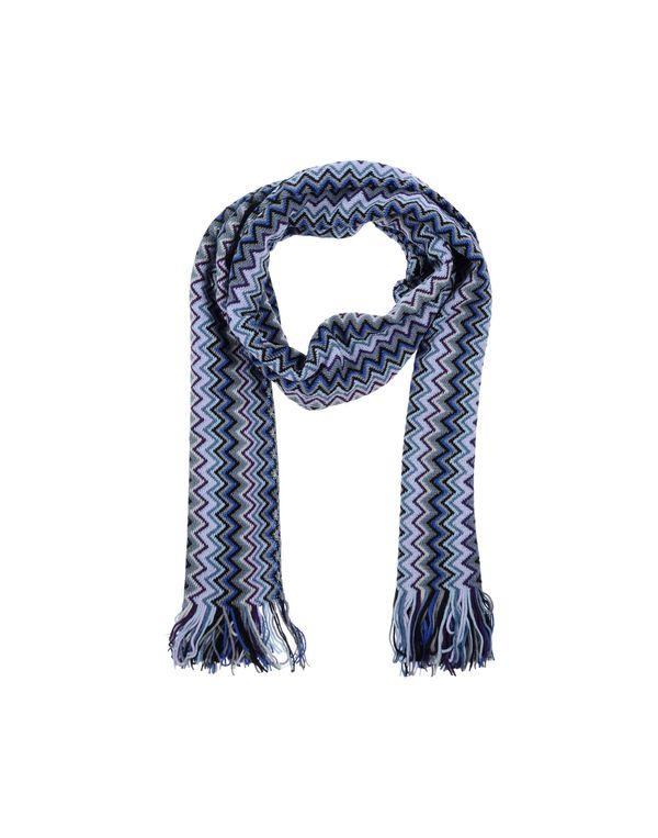 蓝色 MISSONI 长方披肩