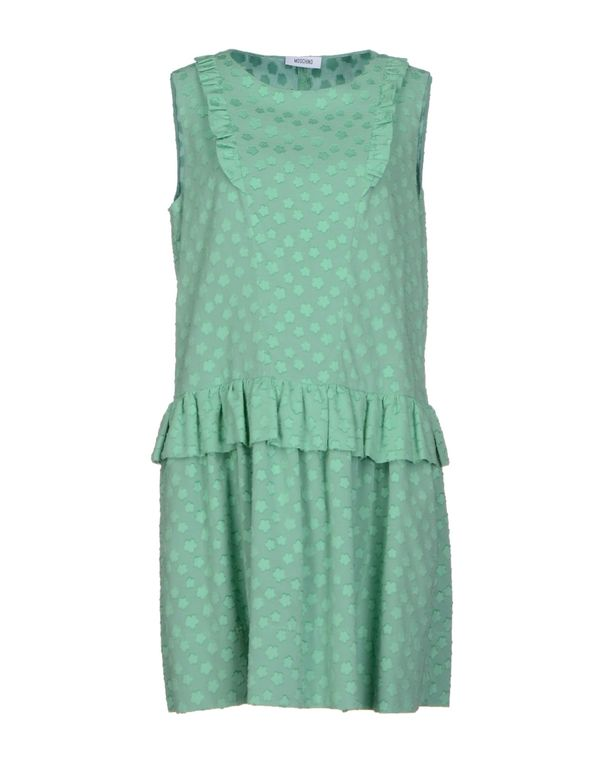 浅绿色 MOSCHINO 短款连衣裙