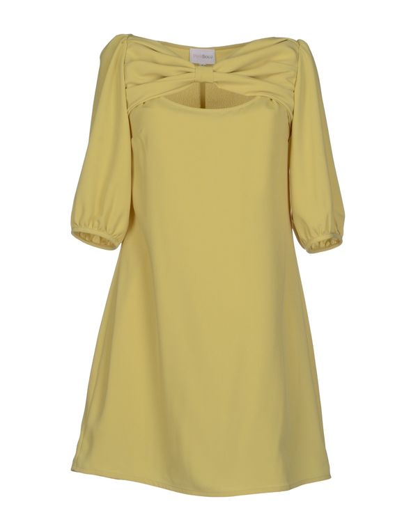 荧光绿 PINK BOW 短款连衣裙