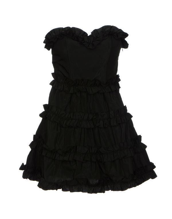 黑色 PINK BOW 短款连衣裙