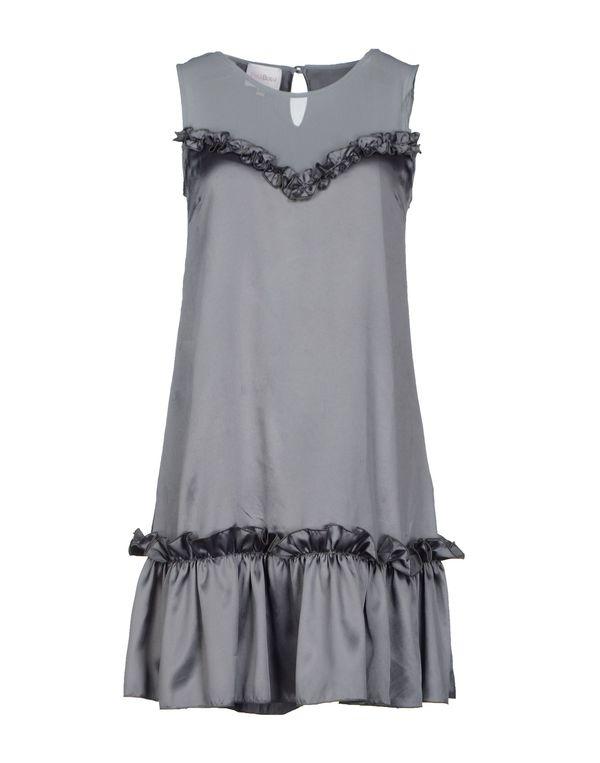 灰色 PINK BOW 短款连衣裙