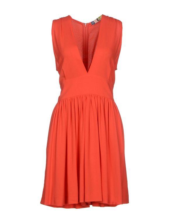 珊瑚红 MSGM 短款连衣裙