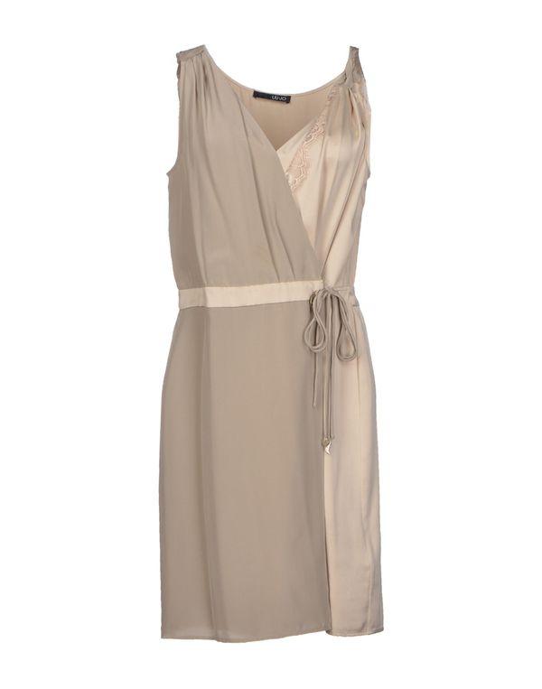 淡灰色 LIU •JO 短款连衣裙