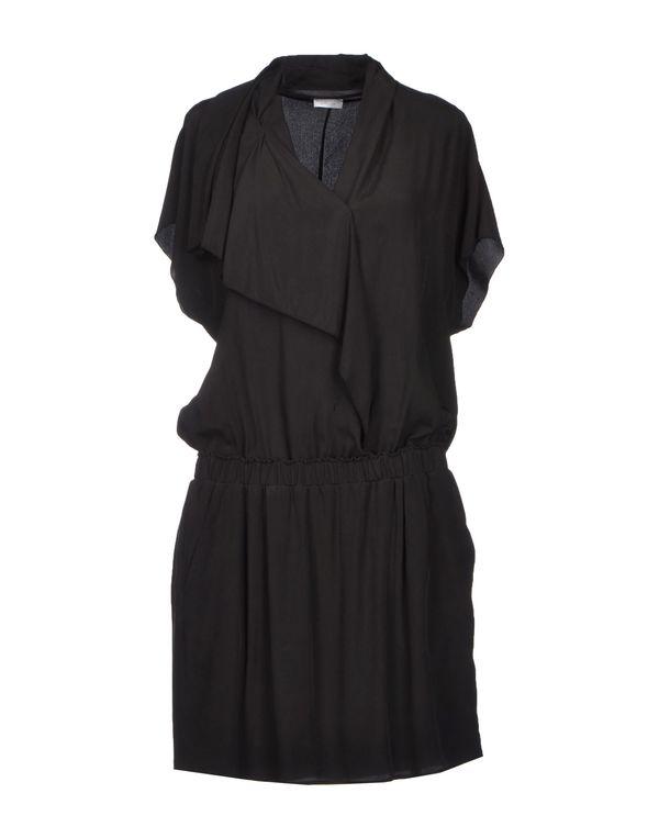 青灰色 GOLD CASE 短款连衣裙