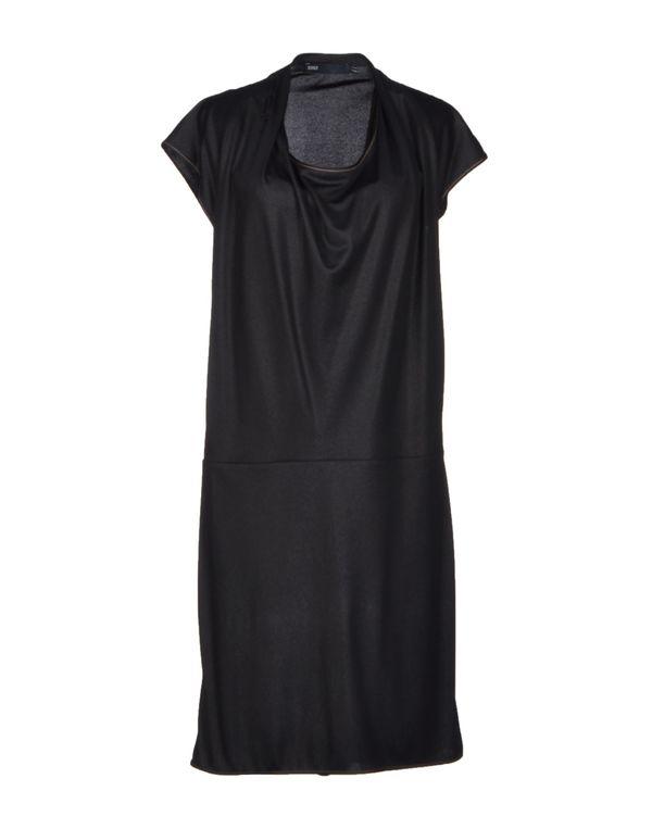 黑色 6267 及膝连衣裙