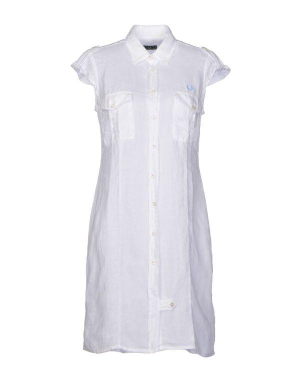 白色 FRED PERRY 短款连衣裙