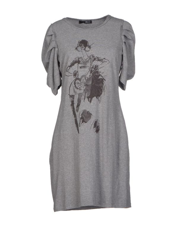灰色 LIU •JO 短款连衣裙
