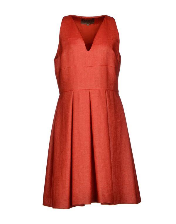 橙色 SPACE STYLE CONCEPT 及膝连衣裙
