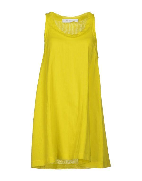 黄色 CACHAREL 短款连衣裙
