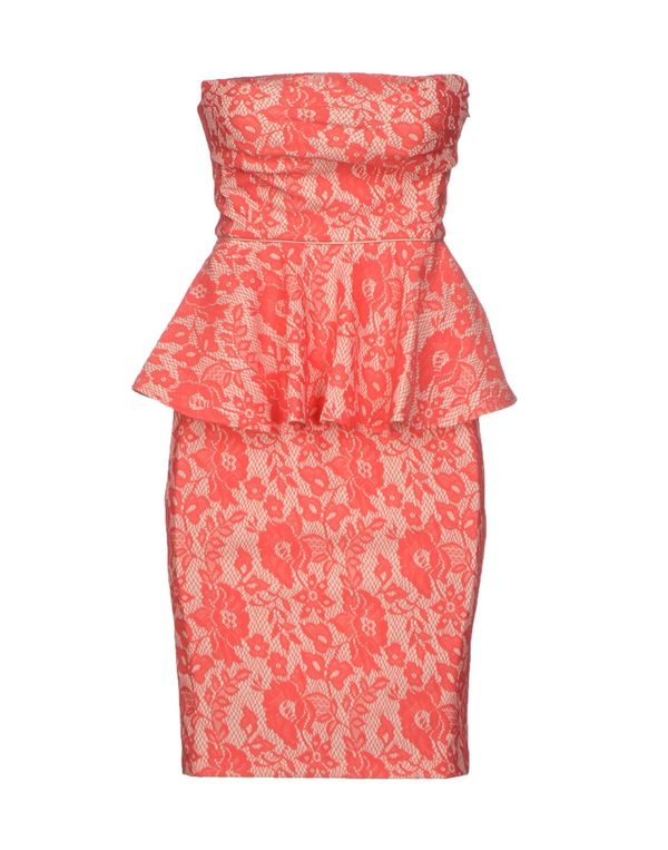 珊瑚红 PINKO BLACK 短款连衣裙