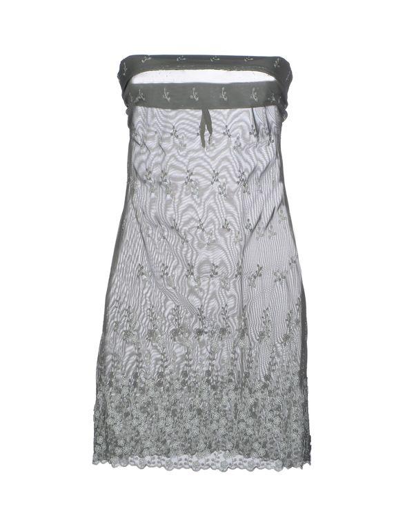 灰色 MANILA GRACE 短款连衣裙