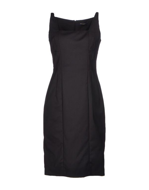 黑色 PIAZZA SEMPIONE 及膝连衣裙