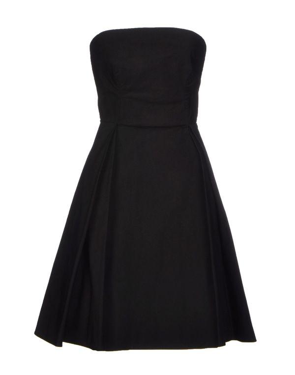 黑色 ASPESI 及膝连衣裙